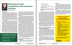 bankruptcy creates complications with contractor licensing shemilly briscoe